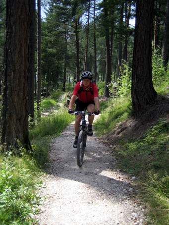 Nico allein im Wald