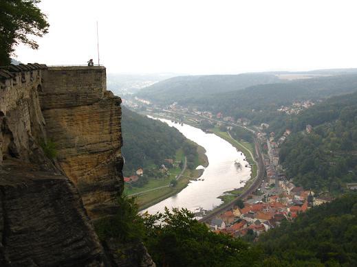 Auf der Festung Königstein (Blick nach Königstein)